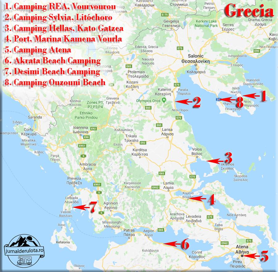 Campinguri In Grecia Vizitate De Jurnal De Rulotă Rvtravel